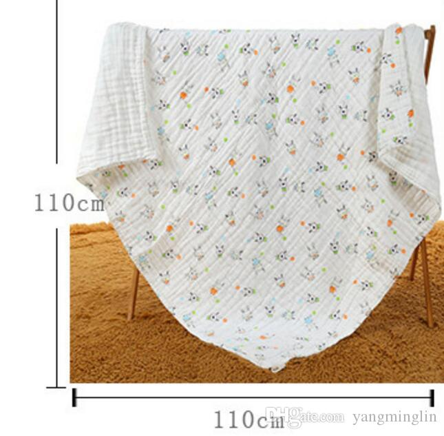 110x110cm Baby Swaddles Muslin Baby Blankets Bath Towels Blankets Wraps Newborn Cotton Swadding Cotton Baby Blankets