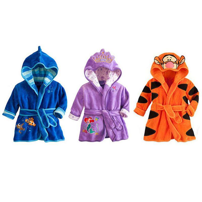 Baby Flannel Bathrobe Robes Kids Cartoon Cat Sleepwear Hooded Children S  Bathrobes Boys Girls Pajamas Enfant Home Wear Clothing Boys Christmas Pjs  Kids ... 34e037106