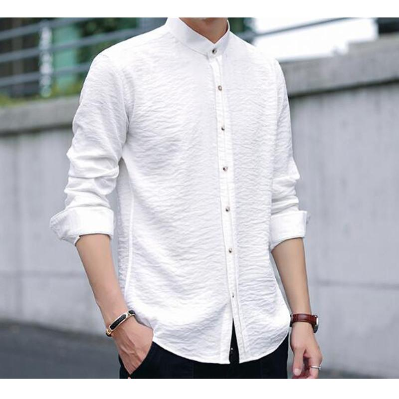 d74083dc611 2019 Summer Shirt Men S Long Sleeves Korean Version Of The Self Cultivation  Free Hot Professional Work New Men S Shirt From Beatricl