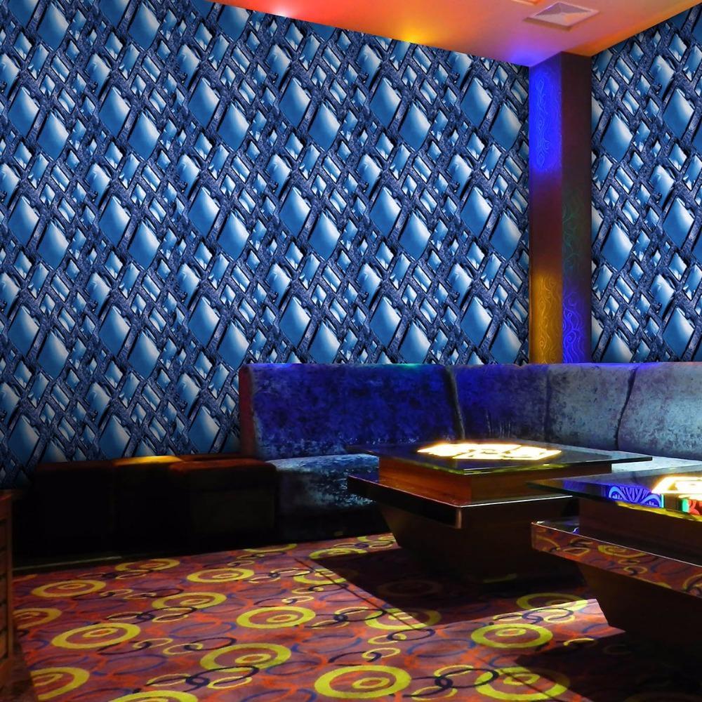 Diamond Reflective Gold Foil 3d WallpaperModern Pvc Waterproof Wallpaper Roll For Ktv LivingroomBarTv Store Mural Papel De Parede Pc Widescreen