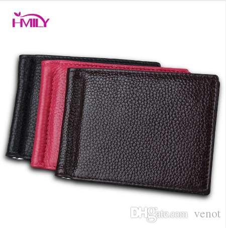 11f259c7bd93 HMILY Genuine Leather Dollar Clip Men Business Mini Money Clips ...