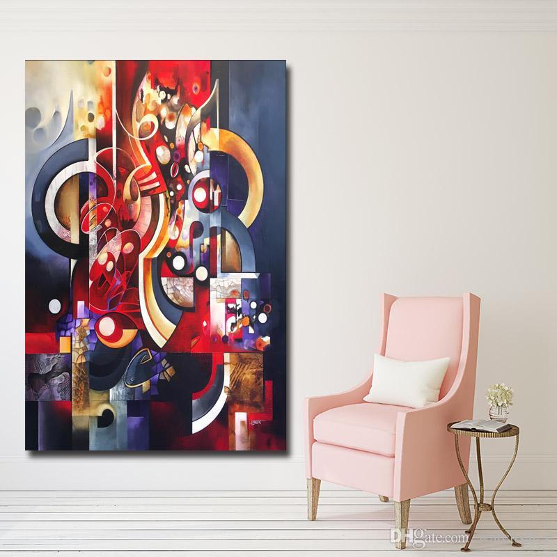 1 Panel Abstrakte Kunst Leinwand Malerei Poster Rote Wandbilder Für  Wohnzimmer, Hotel, Café Home Decor Kein Rahmen