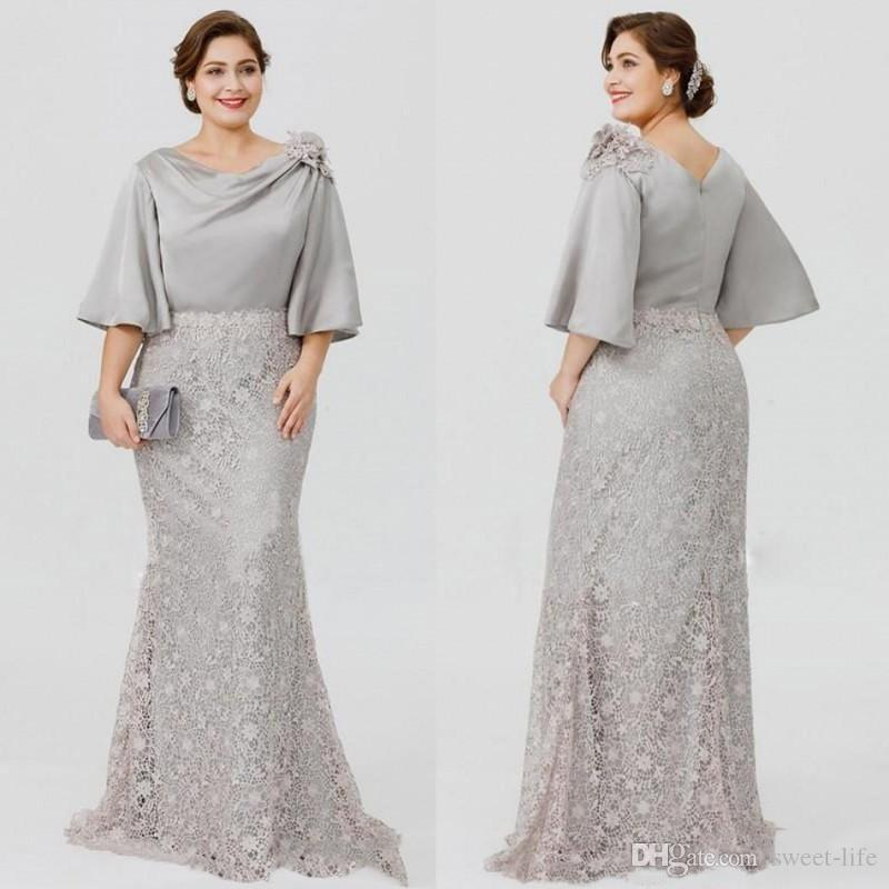 2018 New Plus Size Mermaid Mother Of The Bride Dresses Long Full Lace Wedding Guest Dress Cheap Custom Made Mothers Formal Wear