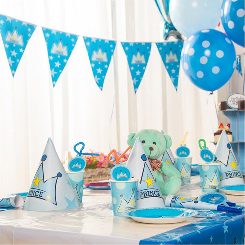 2018 happy 1st prince themes birthday party decorations set kids