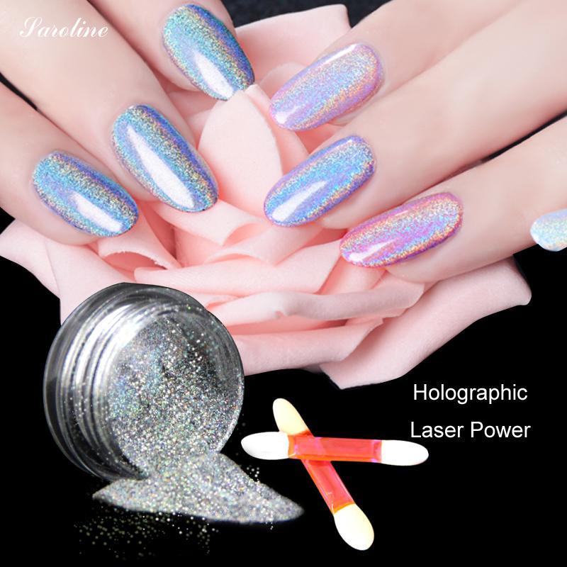 Holographic Powder Magic Mirror Powder Nail Glitter Chrome Pigment ...