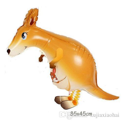 Walking Pet 9 Animals mixed Unicorn kangaroo Aluminum Foil Balloon Automatic Sealing Kids Baloon Toys Gift Wedding Birthday Party Supplies