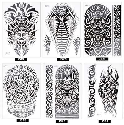 Acheter Atomus Beaute Sticker Autocollants De Tatouage Noir Indien