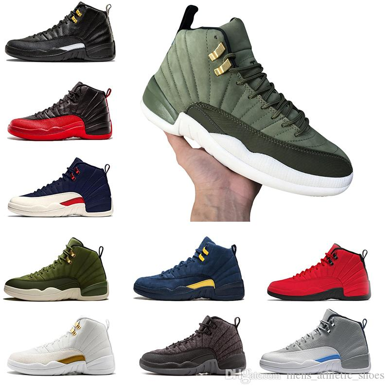 huge discount 3ba52 ab6af Großhandel AAA + Qualität 12er Jahre Herren Basketball Schuhe XII  Graduation Pack International Flight Sneakers Designer BORDEAUX Flu Game  Herren ...