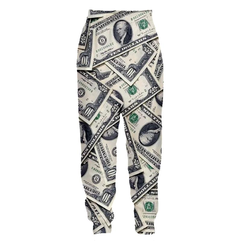 d060706ad 2019 YX GIRL Funny 3D Money Pattern Dollars Print Spring Pants Women Men  Palazzo Joggers Casual Sweatpants Dropship From Lemon888, $49.17 |  DHgate.Com