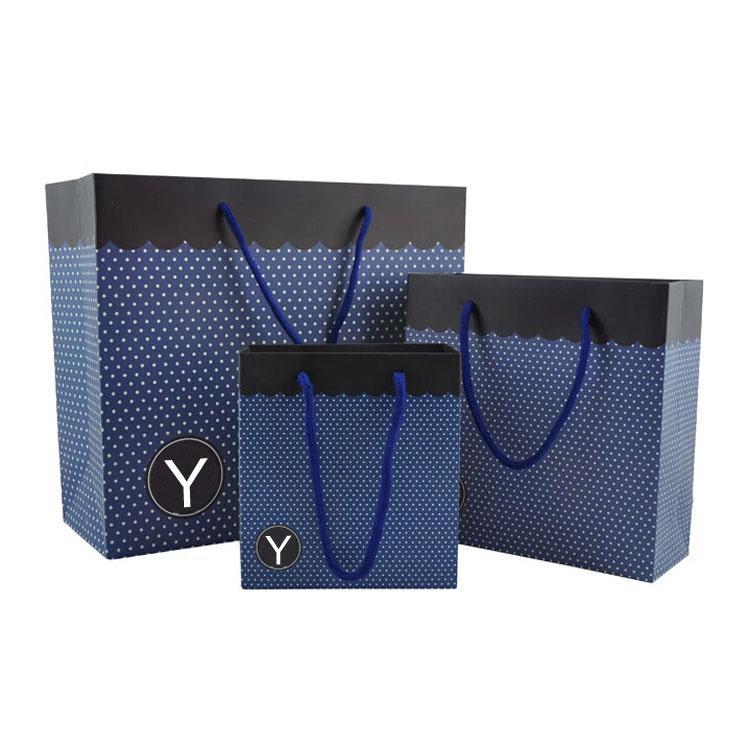 moda design europeo festivo souvenir sacchetto di carta stampa personalizzata disponibile riciclato regalo festa tote boutique di marca shopping sacchetti di carta