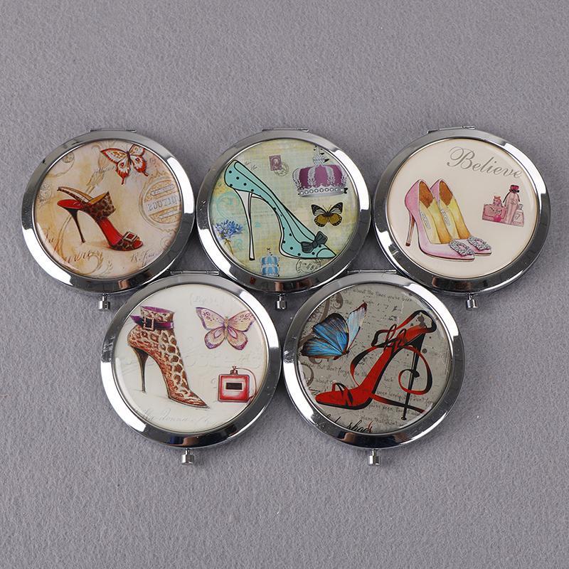 Schminkspiegel Spiegel 1 Stücke Tragbare Doppel Seiten Tasche Make-up Spiegel Kosmetik Make-up Mini Schönheit Normale Vergrößerungs Verschiedene Stile