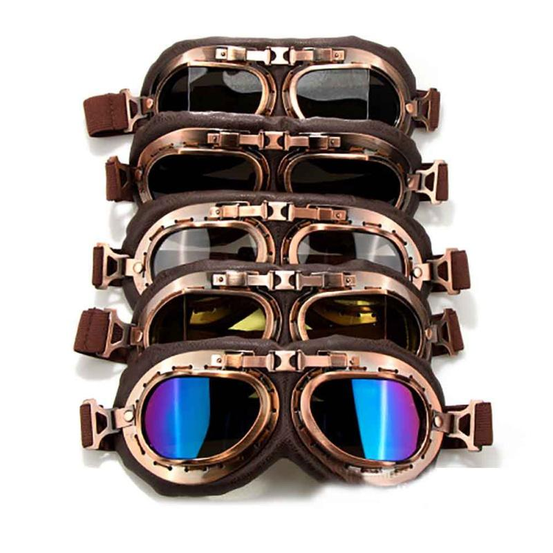 6bb7a4e0f7 2019 Motorcycle Goggles Glasses Vintage Motocross Classic Goggles Retro  Aviator For Harley Protection Eyewear UV Protection From Hongmihoutao