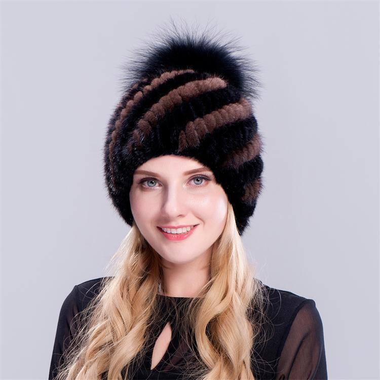 631234a9298 New Hair Ball Leather Hat Hat European Mink Ear Warm Hat Five Colors Warm  Hat Fur Hat New Style Online with  152.85 Piece on Sweetdream1 s Store