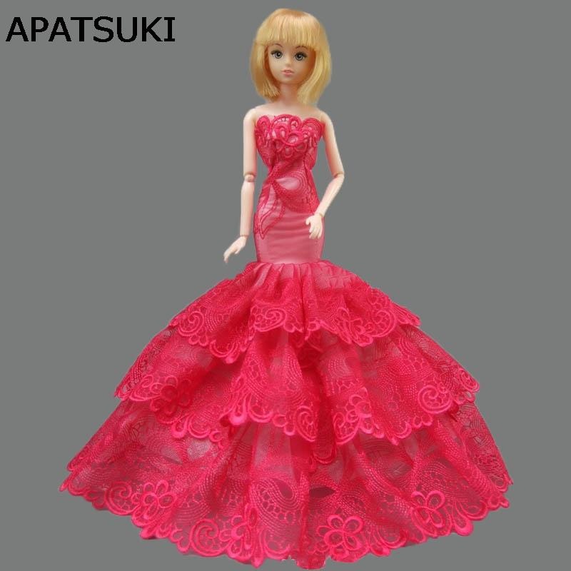Fashion Mermaid Clothes For Fishtail Wedding Party Dress For Doll Limited  Collection Elegant Handmade Dress Gift Doll Accessories To Make Toy Baby  Doll ... 379d6b97e219