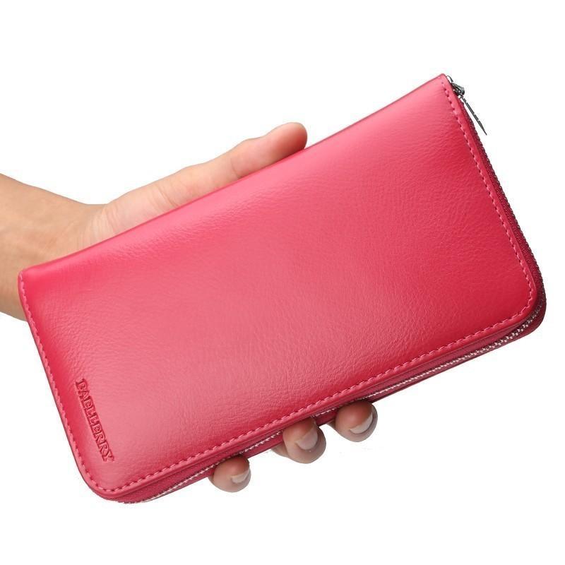 2018 New Women Card Holder Passport Pocket Women Wallets Genuine Leather  Man Wallet Women S Long Purse Lady Day Clutch Wallet French Wallet White  Wallet ... 01e1abcfb4