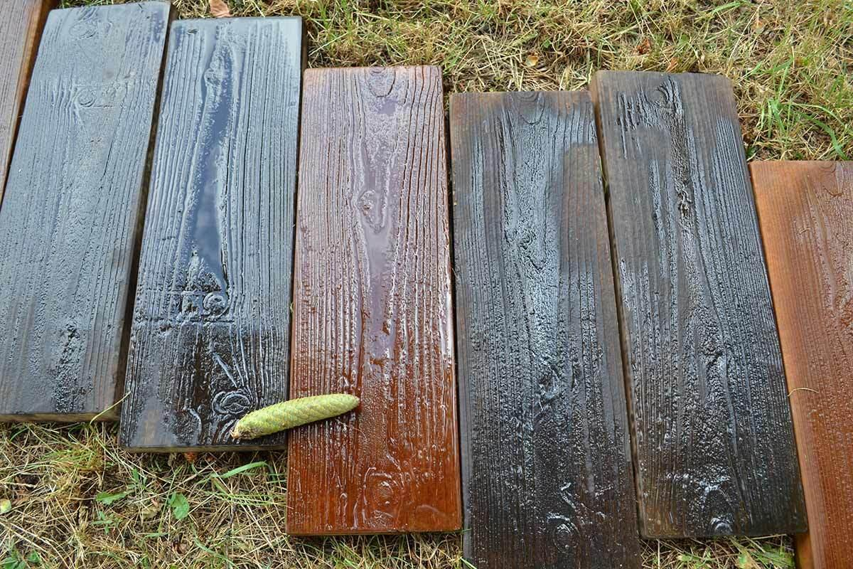 2 Pieces /Set Molds Old Wooden Boards Concrete Mould Garden Stepping Stone  Path Road Brick Mold Yard Diy Decoration