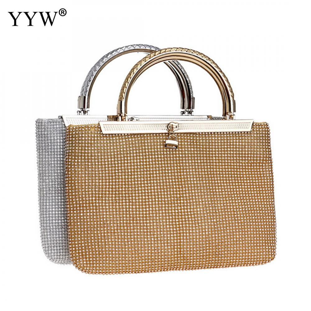 3d5c76362332 Grey Handbag For Women Jewelry Evening Party Bags Clutches Rhinestone Tote  Handle Hand Bags Zipper Ladies Wedding Party Purse Wholesale Purses Black  Handbag ...