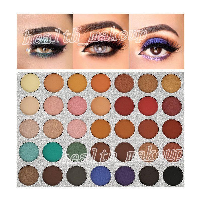 новый макияж красоты глазированные тени для век палитра 35 цвет впечатлил вас матовый мерцание тени для век палитра красоты глазированные бренд косметики DHL