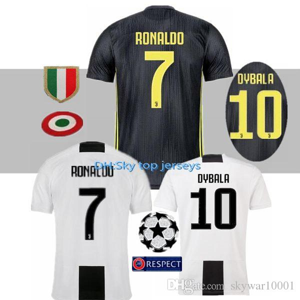 18c4dfb64 18 19 Juventusing Soccer Jerseys HOME Dybala 2018 2019 D.COSTA ...