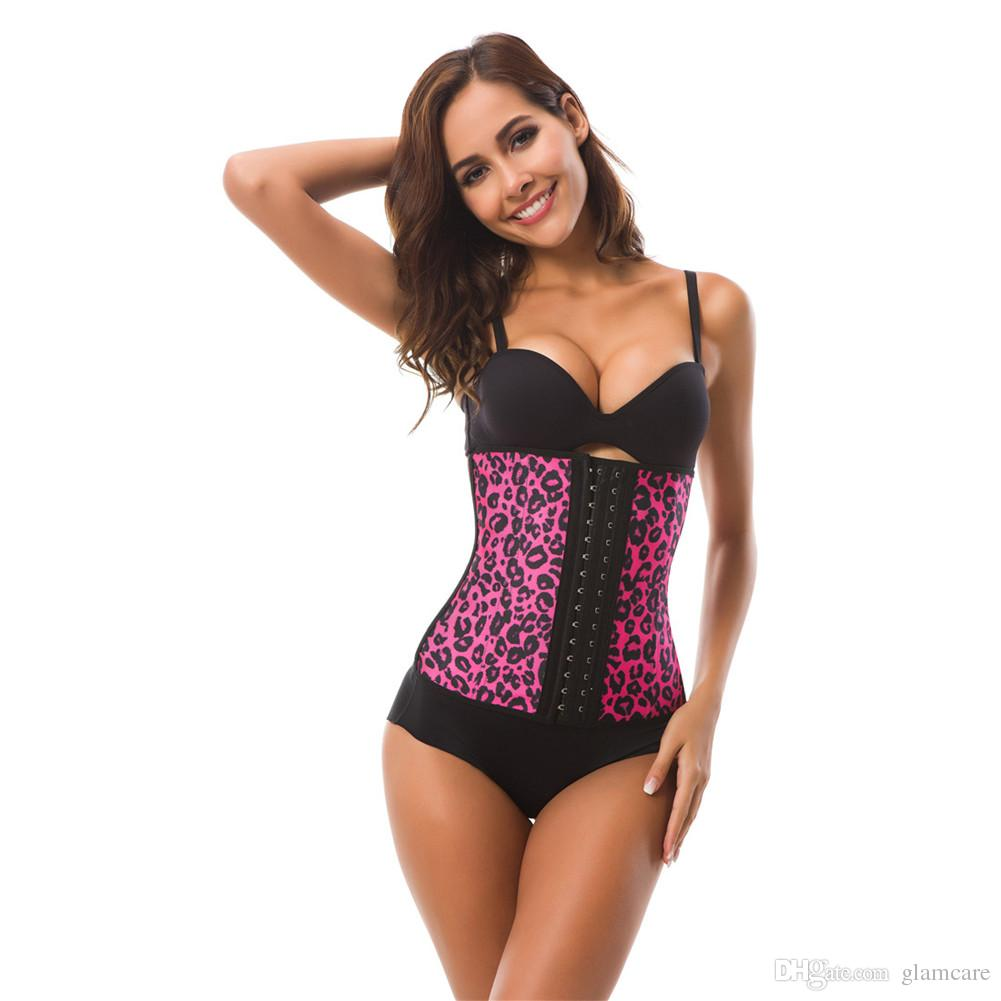 049a7ff39c4 2019 GLAMCARE Hot Sexy Cincher Bustier 9 Steel Bones Animal Print Leopard  Latex Waist Trainer Body Shaper From Glamcare