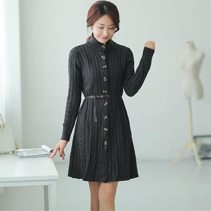 e35bf4d8c66ec Satın Al Yeni Kadın Kış Ceket Kore Versiyonu Kadın Gevşek Kazak Ve Uzun  Bölümler Büküm Örgü Hırka Elbise Kalınlaşma S1030, $50.71   DHgate.Com'da