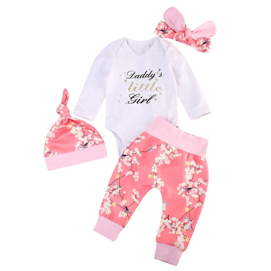 15c3390ce10f 2019 New Trend Fashion Summer Newborn Baby Girl Flower Romper Pants ...