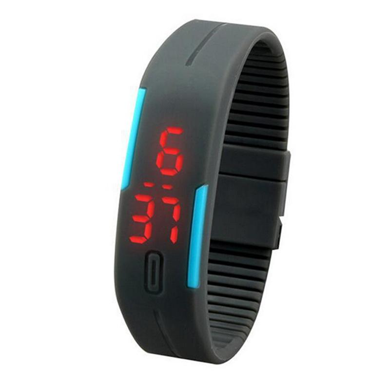8c96e12ed732 Creative New Ultra Thin Reloj De Pulsera Digital Watch Men Girl Sports  Silicone Digital LED Watch Sports Wrist High Quality Watches Watches For  Less From ...