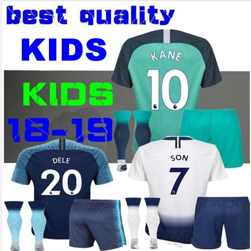 dabffa45f KIDS BOYS 2018 DELE Tottenhames Home Away Soccer Jersey Child KANE LAMELA  JANSSEN TRIPPIER DEMBELE SON SPURS Football Third Shirts UK 2019 From  Dadavid12278 ...