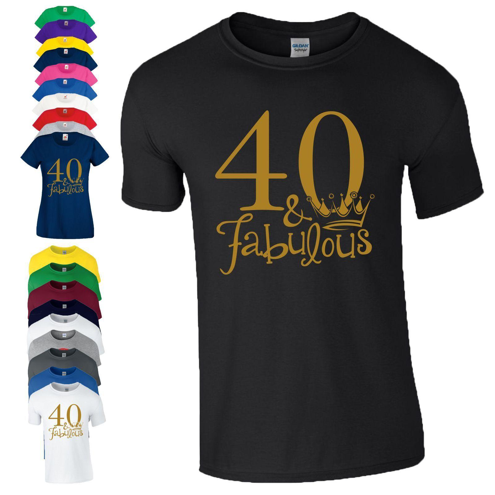 40th Birthday Gift T Shirt Made In 1978 King Queen 40 Fabulous Crown Mens LadiesFunny Unisex Casual Tee Tshirt Designs Design Template From