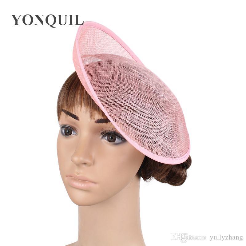03457fc97d2f1 2019 2018 10 25CM Pink Fascinator Base Wedding Royal Ascot Party Sinamay  Fascinator Hats Base DIY Hair Accessories Craft SYB27 From Yullyzhang
