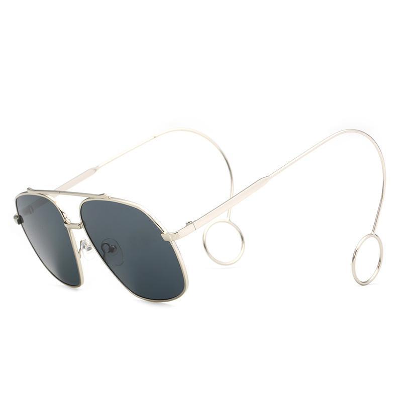 ce42de112d03 2018 Fashion Women Men Sunglasses Retro Classic Metal Frame Long Legs Design  Square Sun Glasses Europe America Trendy Eyewear Glasses Online Polarized  ...