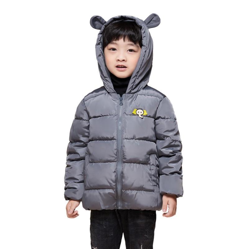 9c21cc8c1b6 Children jackets winter dinosaur Pattern hooded baby toddler boys jacket  kids parka outerwear Parkas jacket for girl 2018