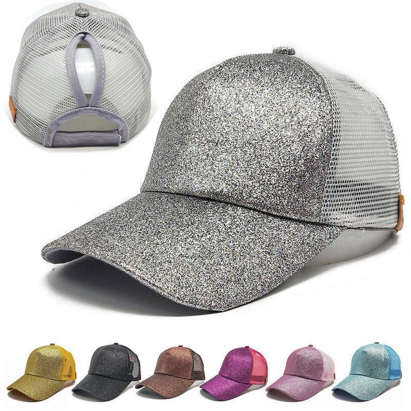 dd4fbc00418 Fashion Sequin Fluorescent Baseball Cap Adjustable Sun Sport Caps For Women  Baseball Hat Hat Store From Henrye