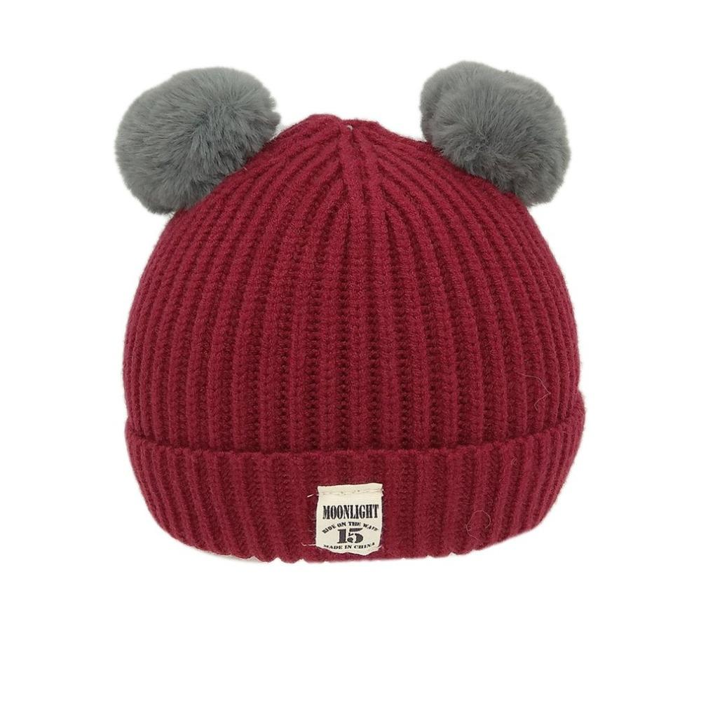 e9ce8827034b Brand New Pom Children Winter Hat For Girls Hat Knitted Beanies Cap Brand  New Thick Baby Cap Baby Girl Boy Winter Warm A30 UK 2019 From Bingquanwat
