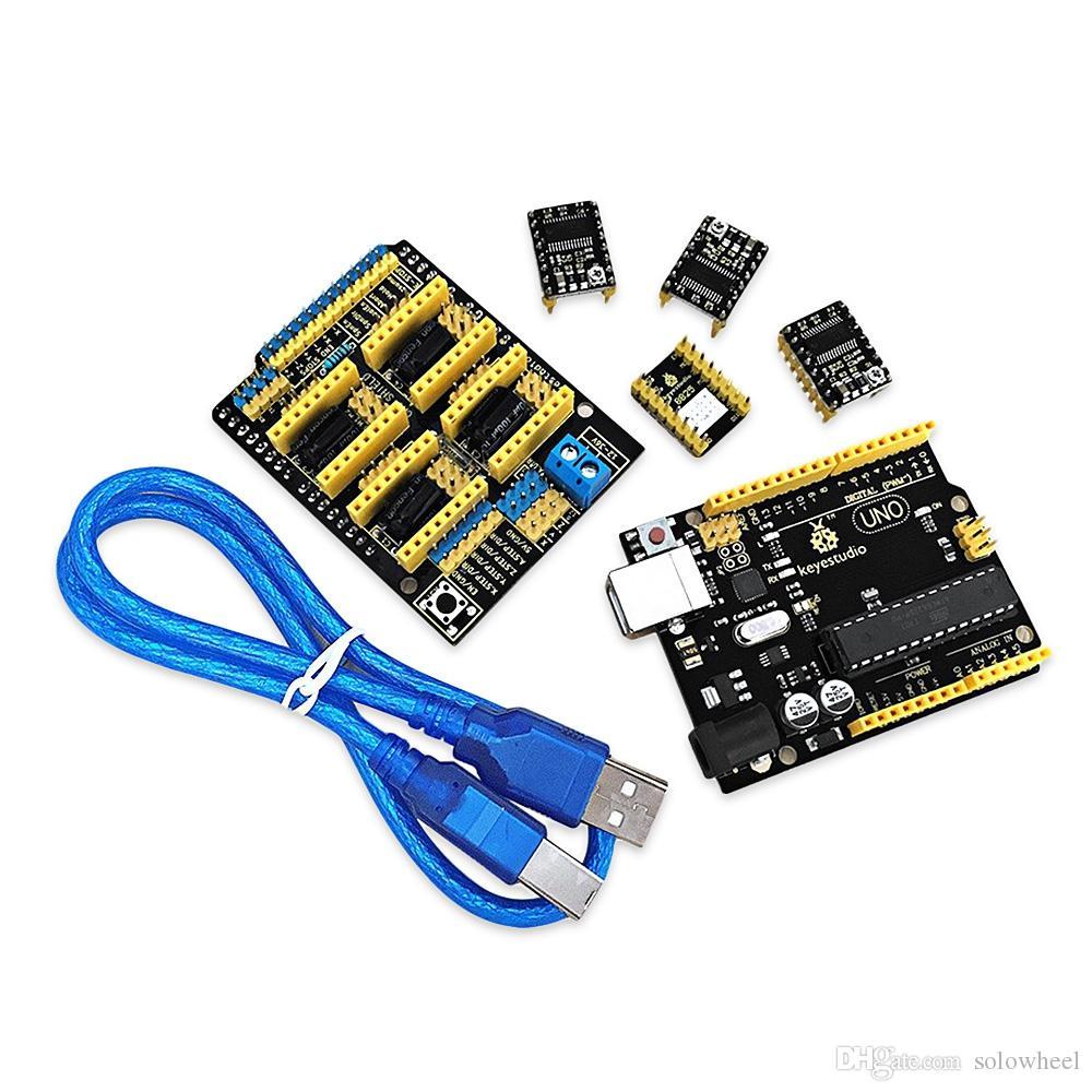 Keyestudio KS0286 CNC Shield V3 0 Module UNO R3 Board Driver for Arduino  compatible with GRBL 0 8C