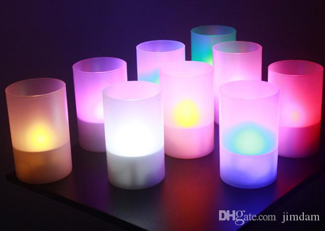 Solar LED Candle Lighting Proposal Creative Decoration Bar Cafe Club KTV Party Lamp Light Decorative Candle Cup