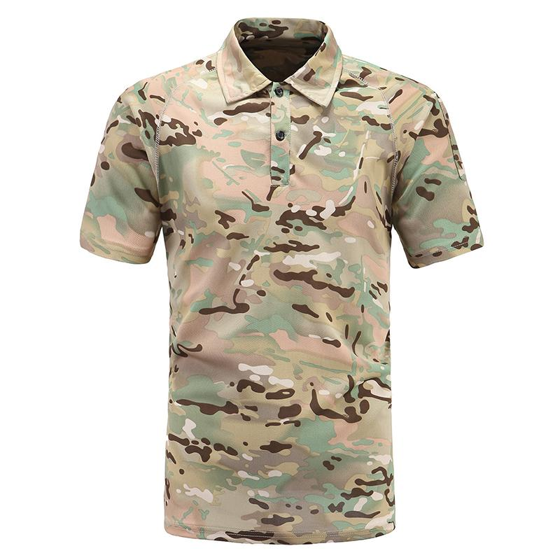 2e0c11b5 Summer Tactical Camouflage T Shirt Men Paintball Army Combat Tee Shirt Male  Quick Dry Camo Casual Short Sleeve Clothing Funny Shirt Cotton T Shirts  From ...