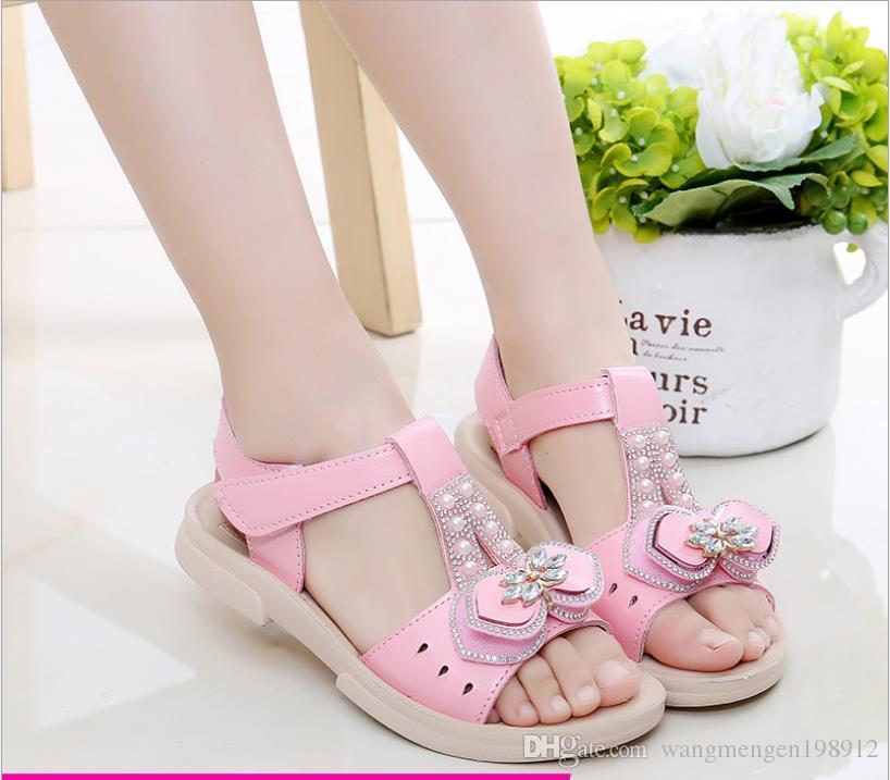 Girls Sandals 2018 Summer New Korean Girls Shoes Child Non-slip Soft bottom Baby Children Beach shoes