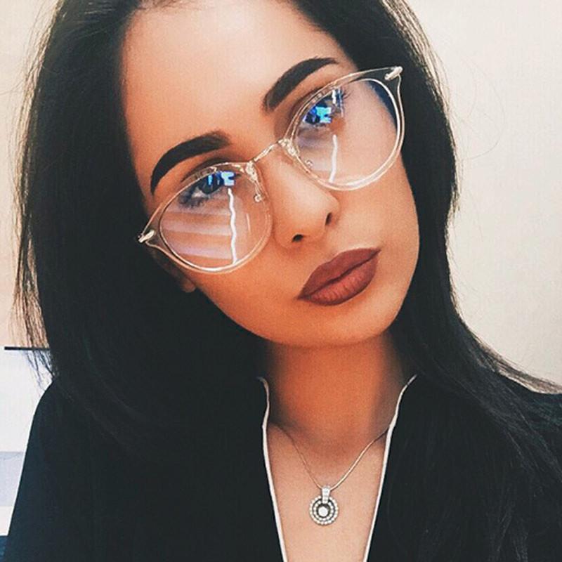 ea9845ff2 Compre Óculos Transparentes Mulheres Óculos De Moda Rodada Óptica Óculos De  Armação De Design Da Marca Olho Claro Oculos De Grau Femininos De  Enchanting11, ...