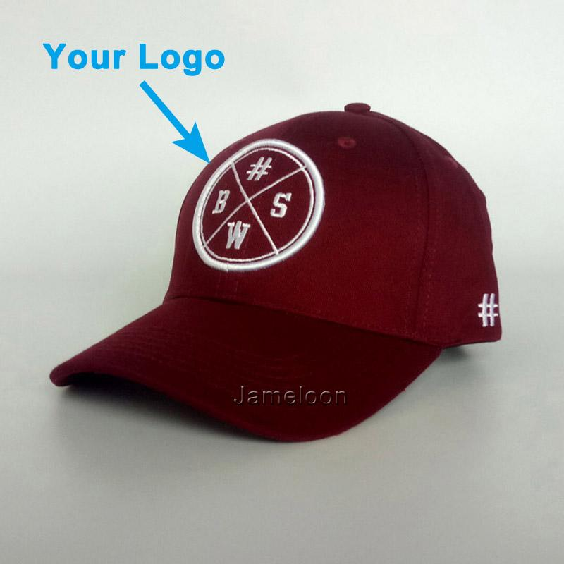 28e5b2991d5 Bent Brim Small MOQ Wholesale Unisex Size 3D Printing Burgundy Baseball  Sport Cap Snapback Closer Custom Hat Hat Embroidery Cap Rack From  Jameloon05
