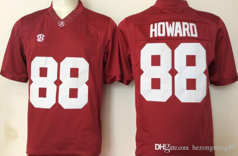 cd16315bf Alabama Crimson Tide 88 O.J Howard 74 Cam Robinson 93 Jonathan Allen NCAA  Championship Sugar Bowl Patch Red White Jerseys Online with  35.5 Piece on  ...