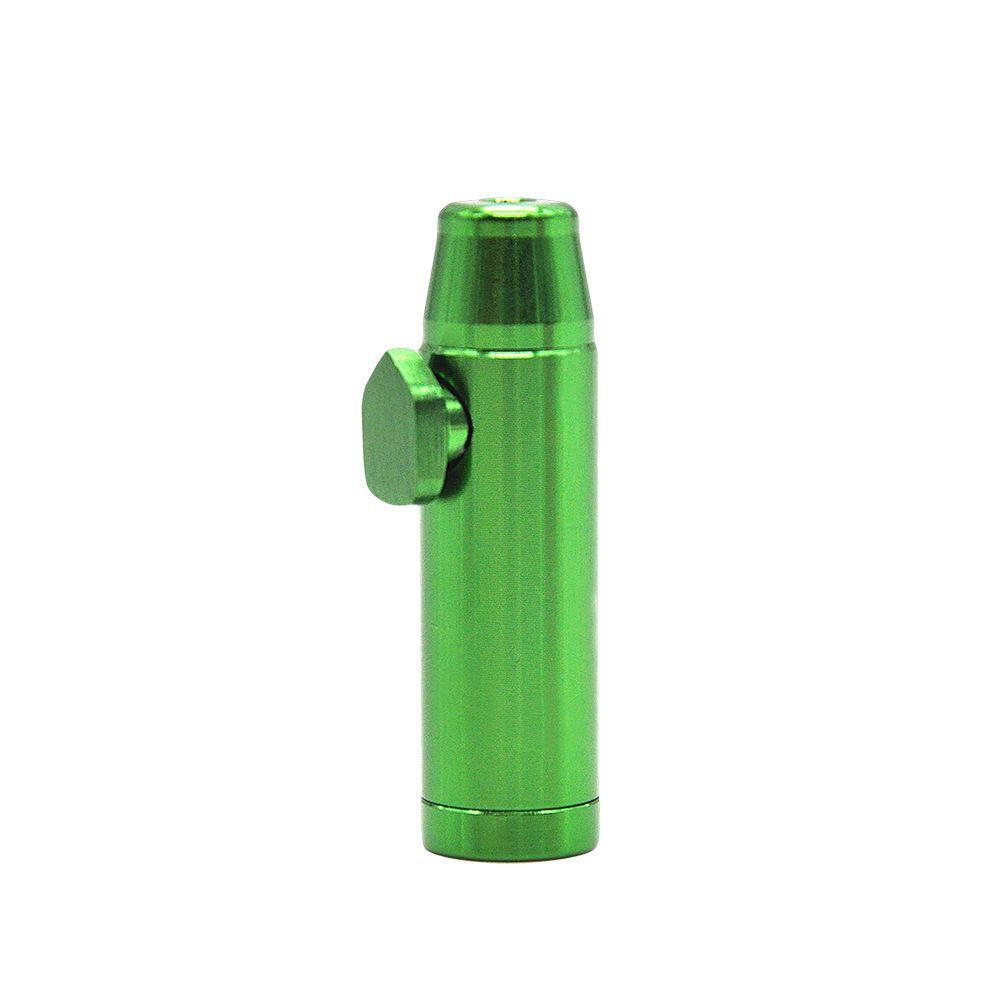 Bullet Pipe Aluminum Metal Snuff Snorter Smoking Pipe Shisha Hookah Sneak A Toke Vaporizer Sniffer glass bongs Endurable Tobacco Pipe W04C
