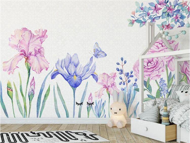 3D Flower Butterfly Wallpaper Mural Bedroom TV Backdrop Wall Decor Floral  Photo Murals Wall Paper papel de parede para quarto