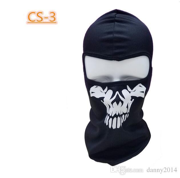 Halloween-Geist-Schädel-Maske Vollgesichtsschädel Hauben Motorradfahrer Balaclava Atemstaubdichtes windundurchlässige Maske Skisports Maske Haube