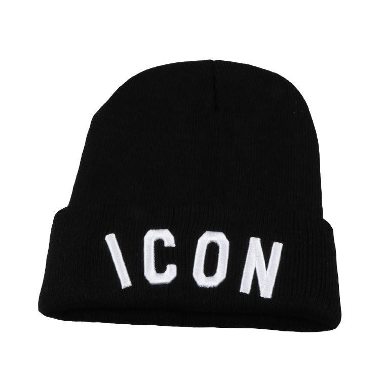 New ICON Winter Cap Fashion Brand Designer Beanie Skull Caps Top Quality  Pure Cotton Kintted Casual Hat Luxury Embroidery Hat Pop Warm Hats Beanies  For ... 2f6d5c9e017
