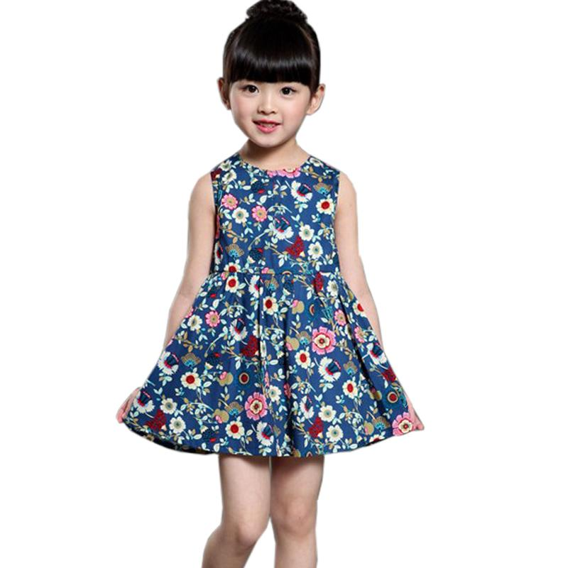 Danmoke 2-11Y Girls Dresses Summer 2017 Princess Dress Baby Girl Fashion Clothes Robe Fille Enfant Kids Dresses for Girls