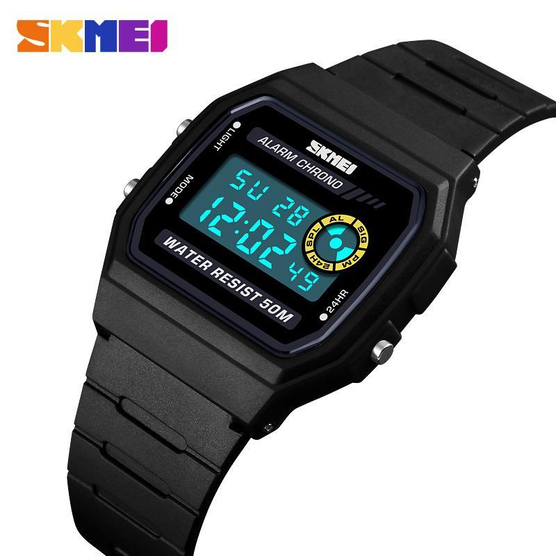 c717ead5b Men Watches Women Square Date LED Digital Sports Watch Men'S EL Back Chrono  Wristwatch Waterproof Relogio Masculino SKMEI 2018 Watch Sale Automatic  Watches ...