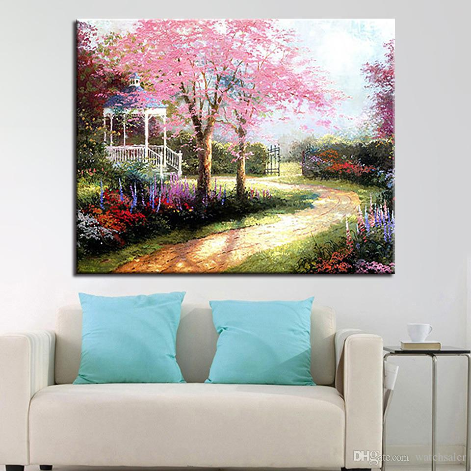Handpainted Beautiful Dream Path Tree Scenery Oil Pictures DIY Painting By Numbers Kits Coloring On Canvas Home Decor Wall Art