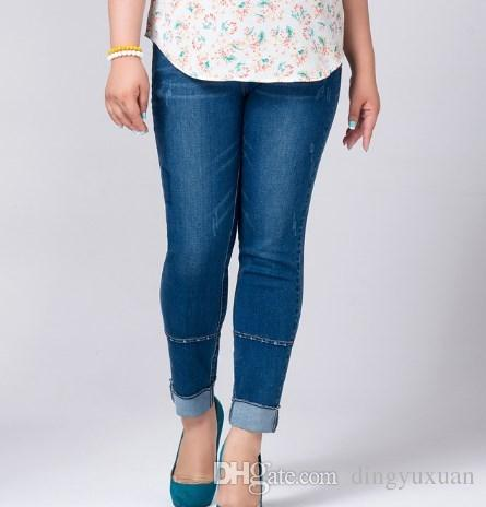7fbb7a10387 Womens Ankle Length Skinny Jeans Woman High Waist Push Up Denim ...