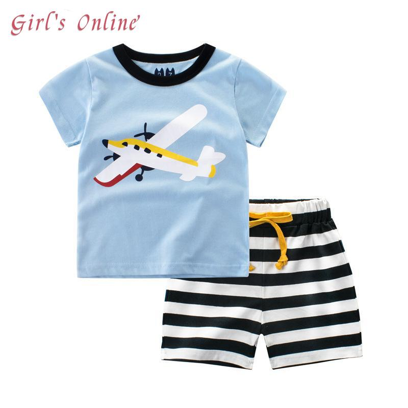 9195e29fc 2019 Boys Suits Cartoon Summer Boys Clothes T Shirts Shorts 2018 New ...